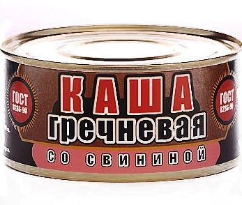 Каша гречневая со свининой ГОСТ 325г (Скопинск)