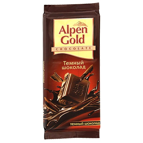 Шоколад Альпен Голд темный 90г
