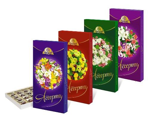 Шок. набор Ассорти Цветы 300г