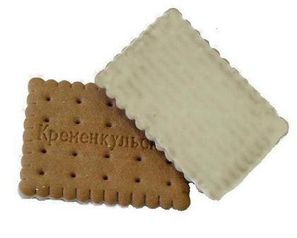 Печенье Кременкульское с какао + белая глазурь